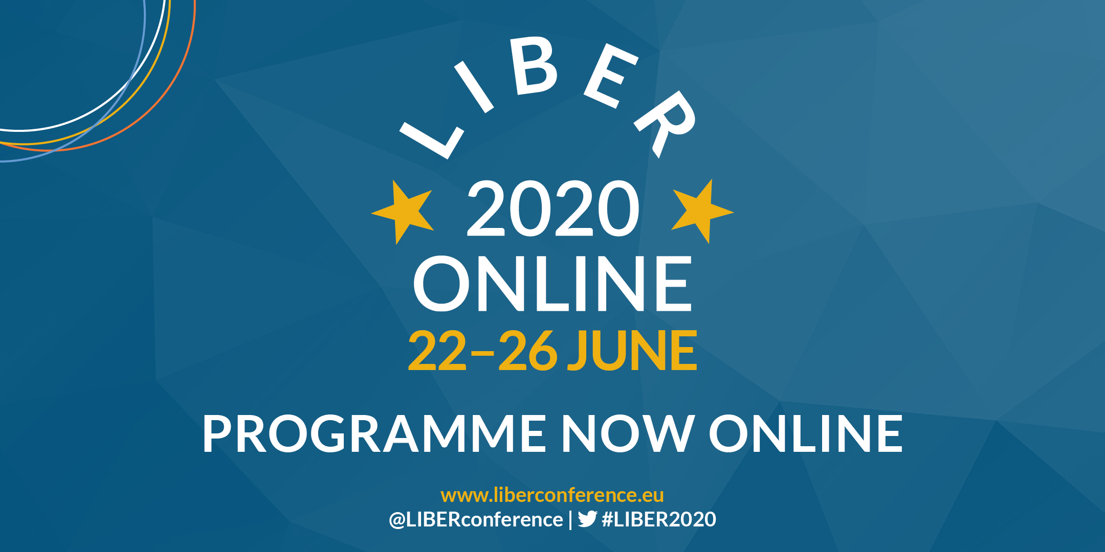 LIBER 2020 ONLINE Programme: Now Available!