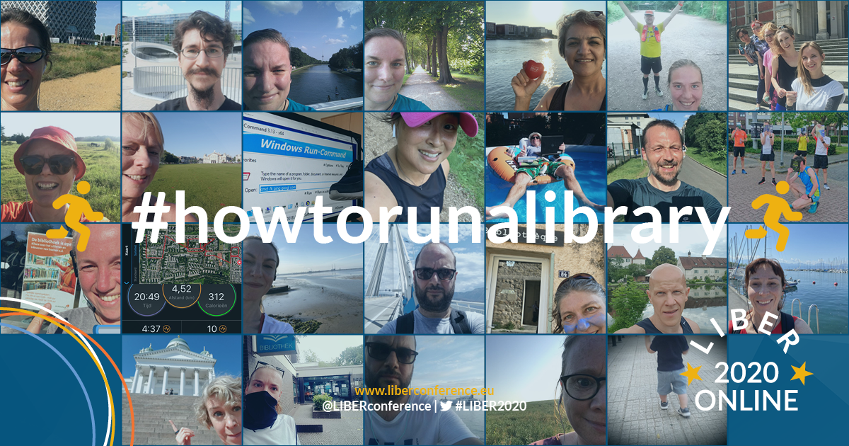 Winners of the LIBER 2020 #HowToRunALibrary Selfie Contest