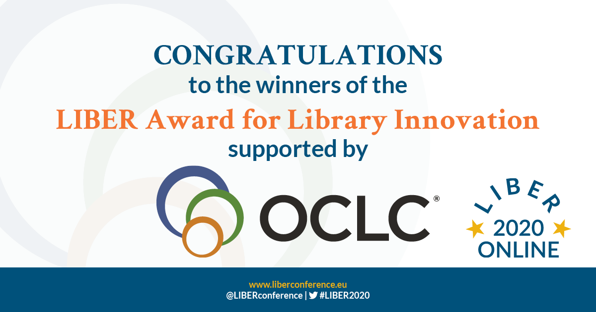 Winners of the LIBER Award for Library Innovation!