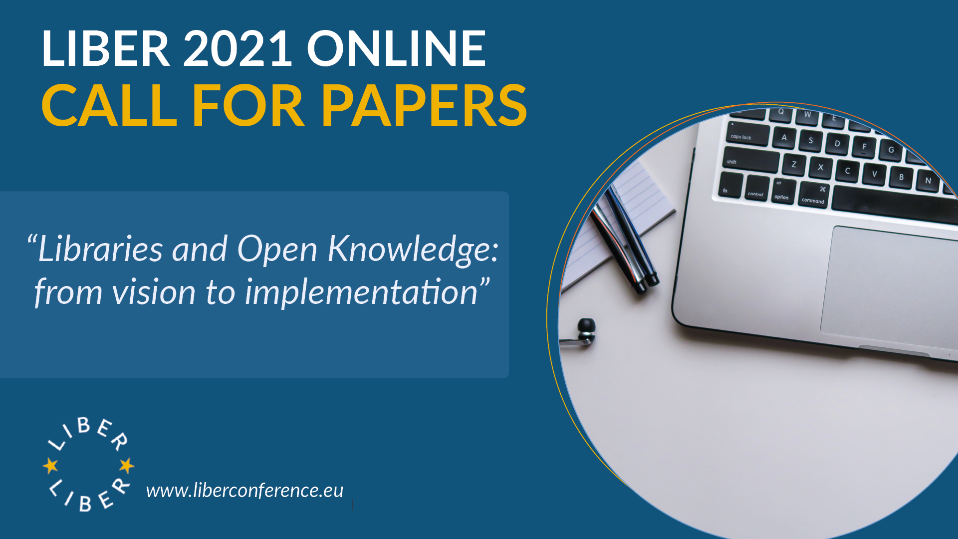 LIBER 2021 Online: Call for Papers